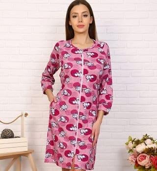 Розовый халат для дома N3686