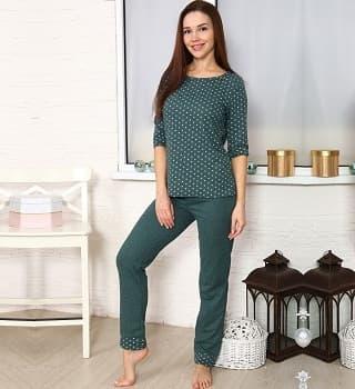 Зеленая домашняя пижама