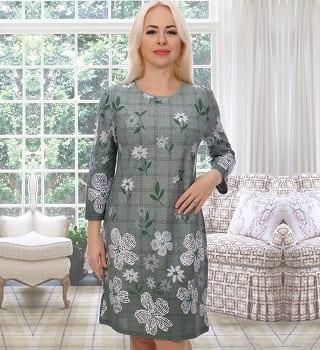 Зеленое ежедневное  платье N3599