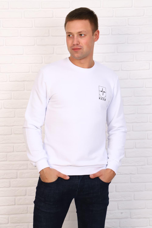 Белый мужской джемпер Berchelli 26538