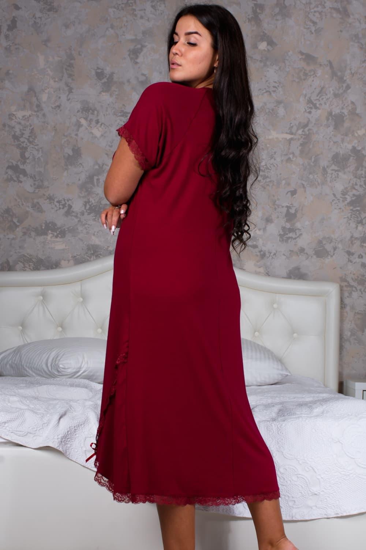 Бордовая сорочка женская 13383