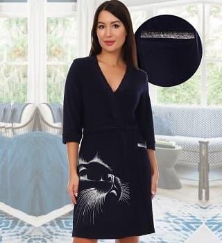 Махровый халат с рисунком