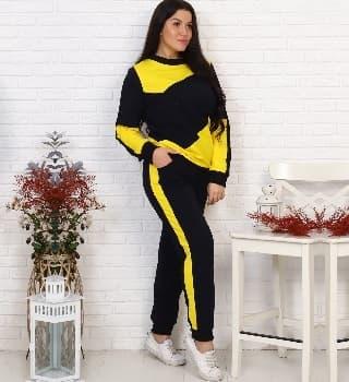 Спортивный костюм с желтыми вставками 25305