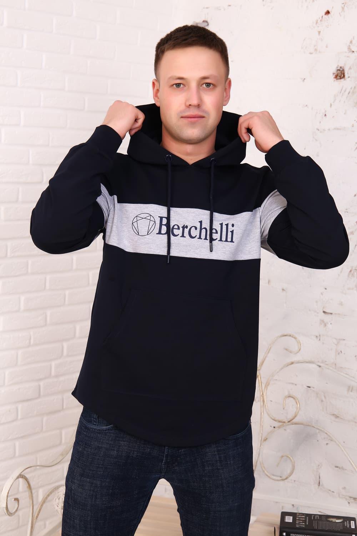 Темно-синяя толстовка с капюшоном Berchelli 4782