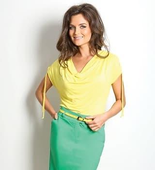 Желтая летняя блузка Top Design A7 042