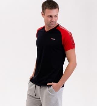 Черная с красным футболка Berchelli 16022
