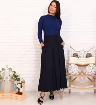 Удлиненная юбка со складками Ramanti 0483