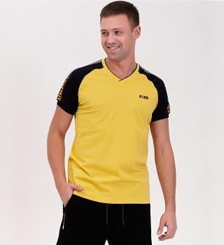 Желтая спортивная футболка 16022