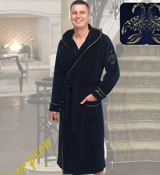 Домашний халат мужской из велюра