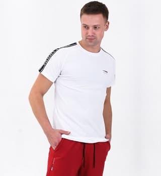 Футболка белая мужская 16040