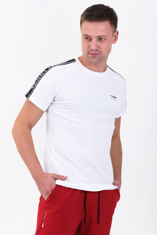 футболка белая мужская