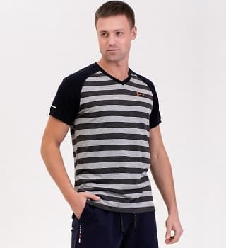 Мужская футболка в полоску 16041