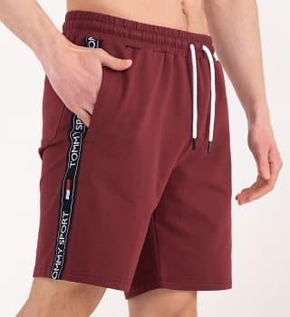 Мужские шорты цвет бордо 16046