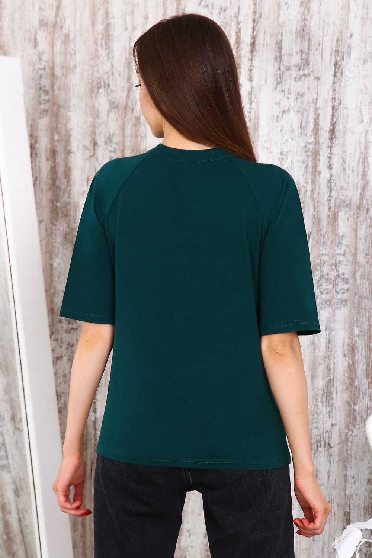 Стильная футболка с красивым вырезом 25169