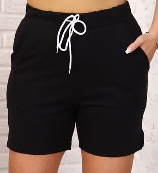 Черные шорты женские 23807