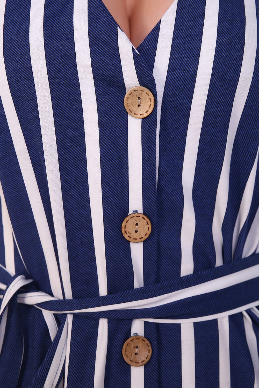 Хлопковое платье на пуговицах 11047