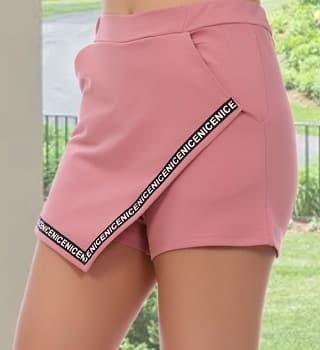 Модные шорты-юбка 12304