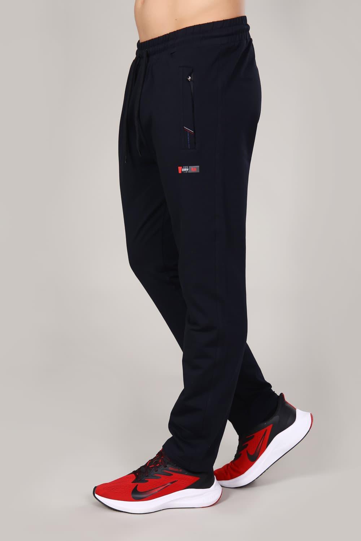 Темно-синие спортивные брюки со шнурком Berchelli 16054