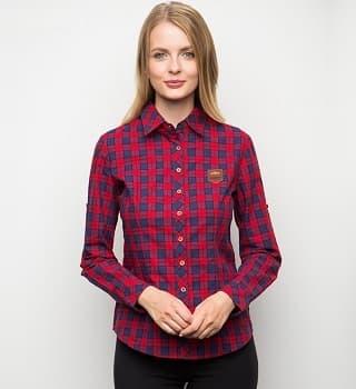 Женская рубашка в клетку 15172