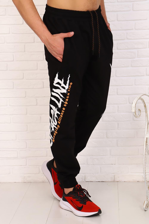 Черные штаны с надписями 16067