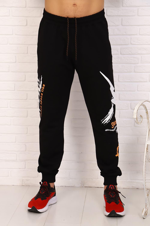 черные штаны с надписями