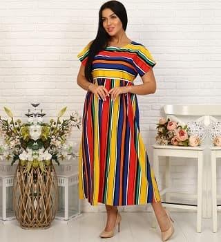 Хлопковое летнее платье 35024