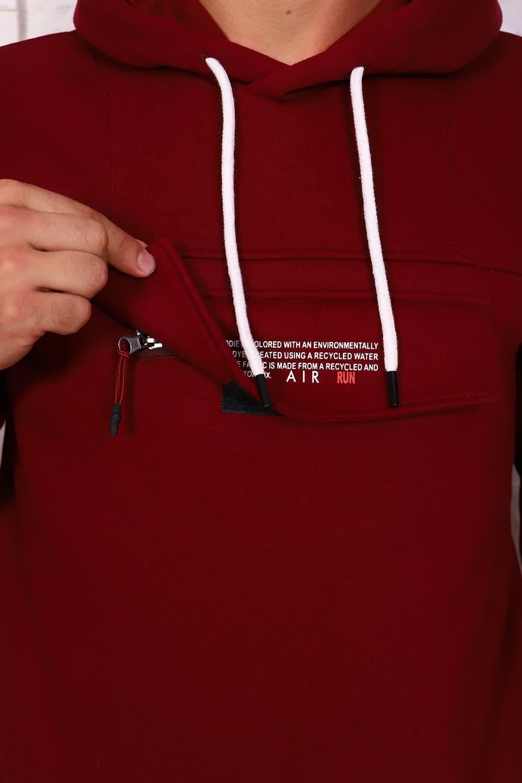 Бордовый теплый костюм  16082