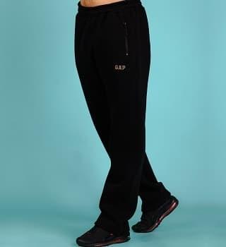 Черные штаны с начесом теплые 16568