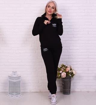Черный костюм с брюками 17561