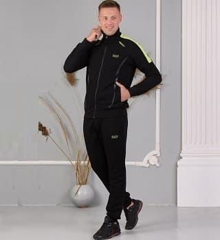 Черный костюм спортивный 16567