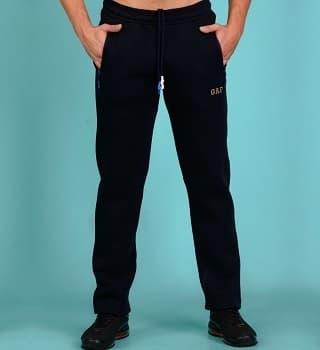 Темно-синие штаны с начесом теплые 16568