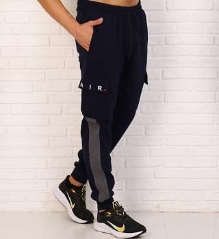 Теплые брюки с накладными карманами 16091