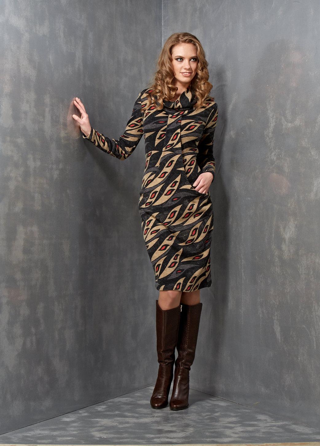 Модное платье по фигуре Top Design  B3 058
