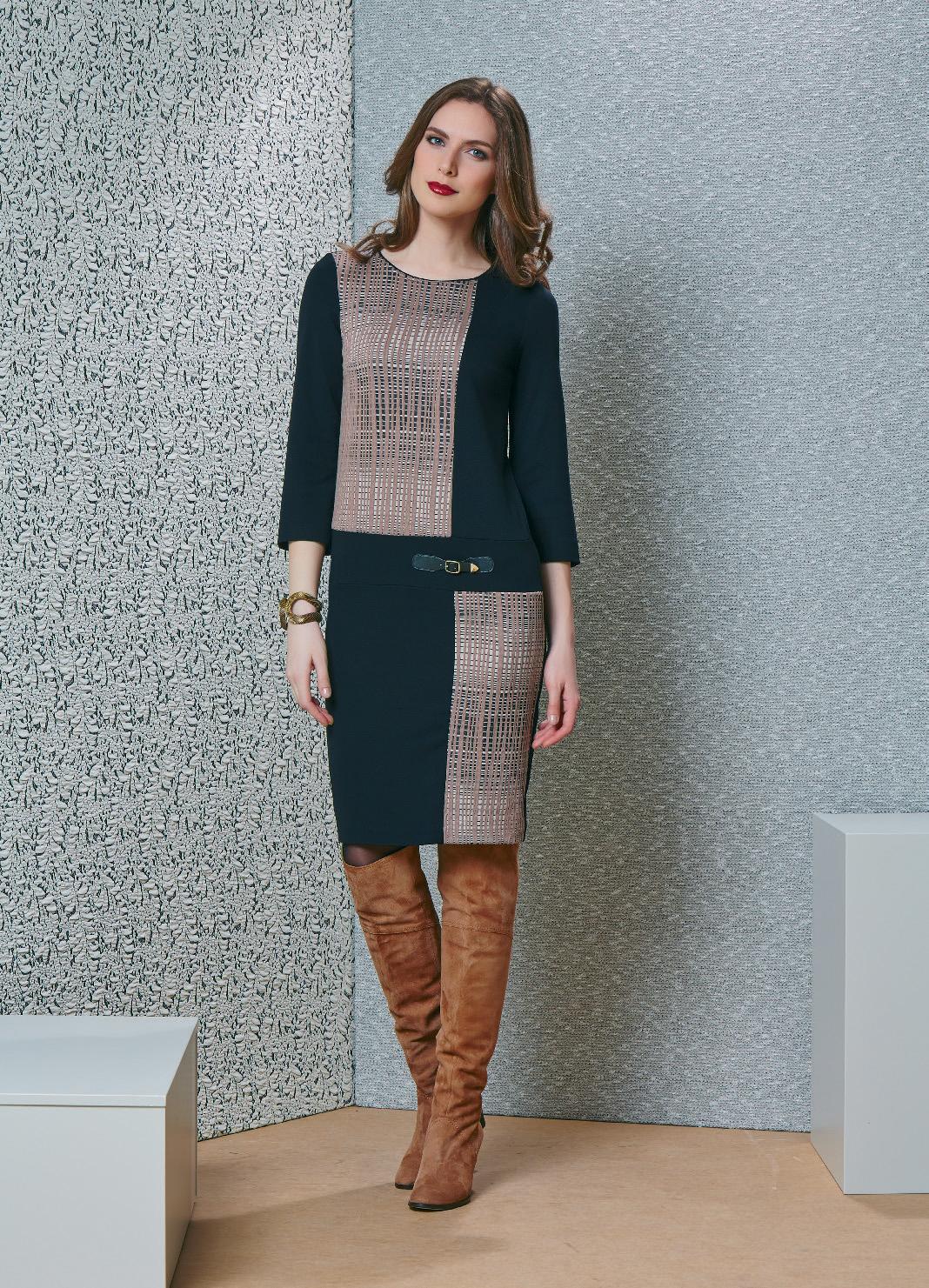 Платье с рукавом 3/4 Top Design В4 116