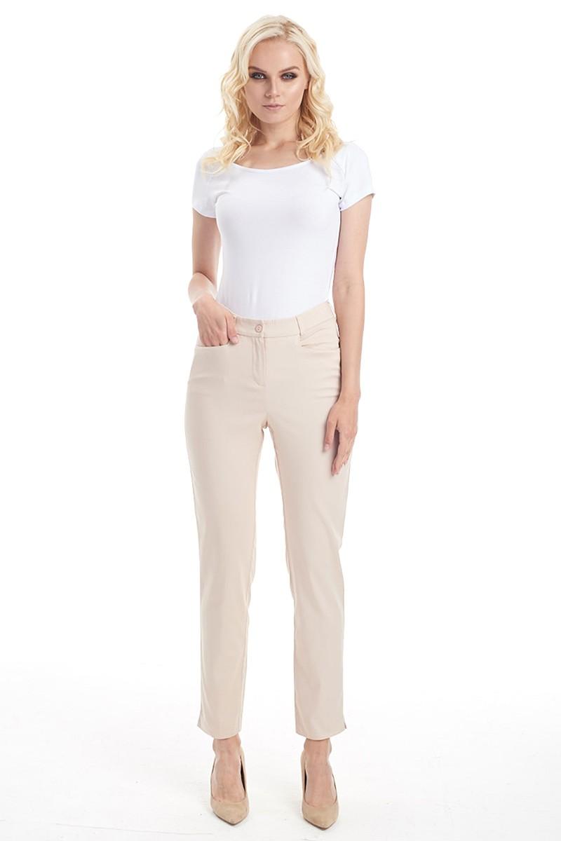 Бежевые летние брюки LalaStyle 1461