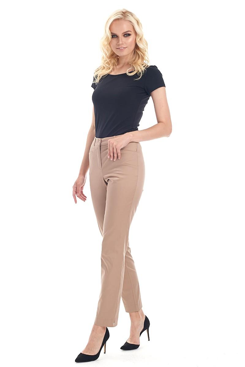 Классические брюки женские модного краска а капучино LalaStyle 1461