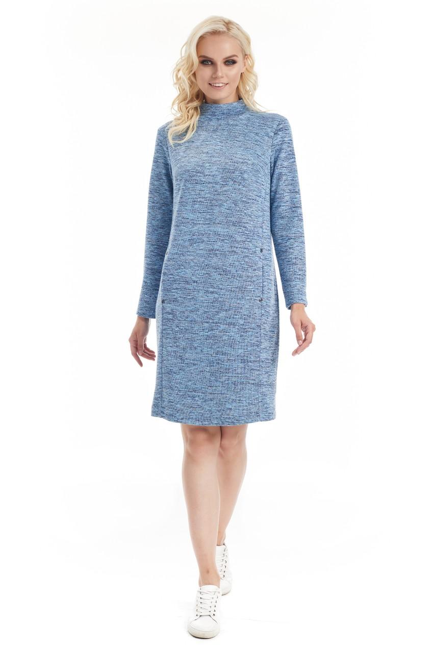 Теплое платье LalaStyle W01066