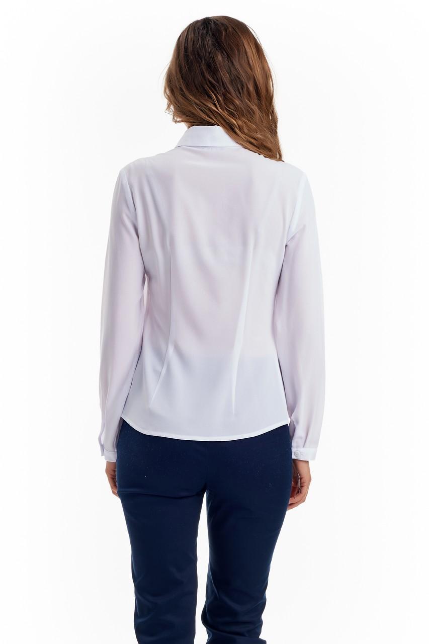 Белая женская блузка LalaStyle W02001