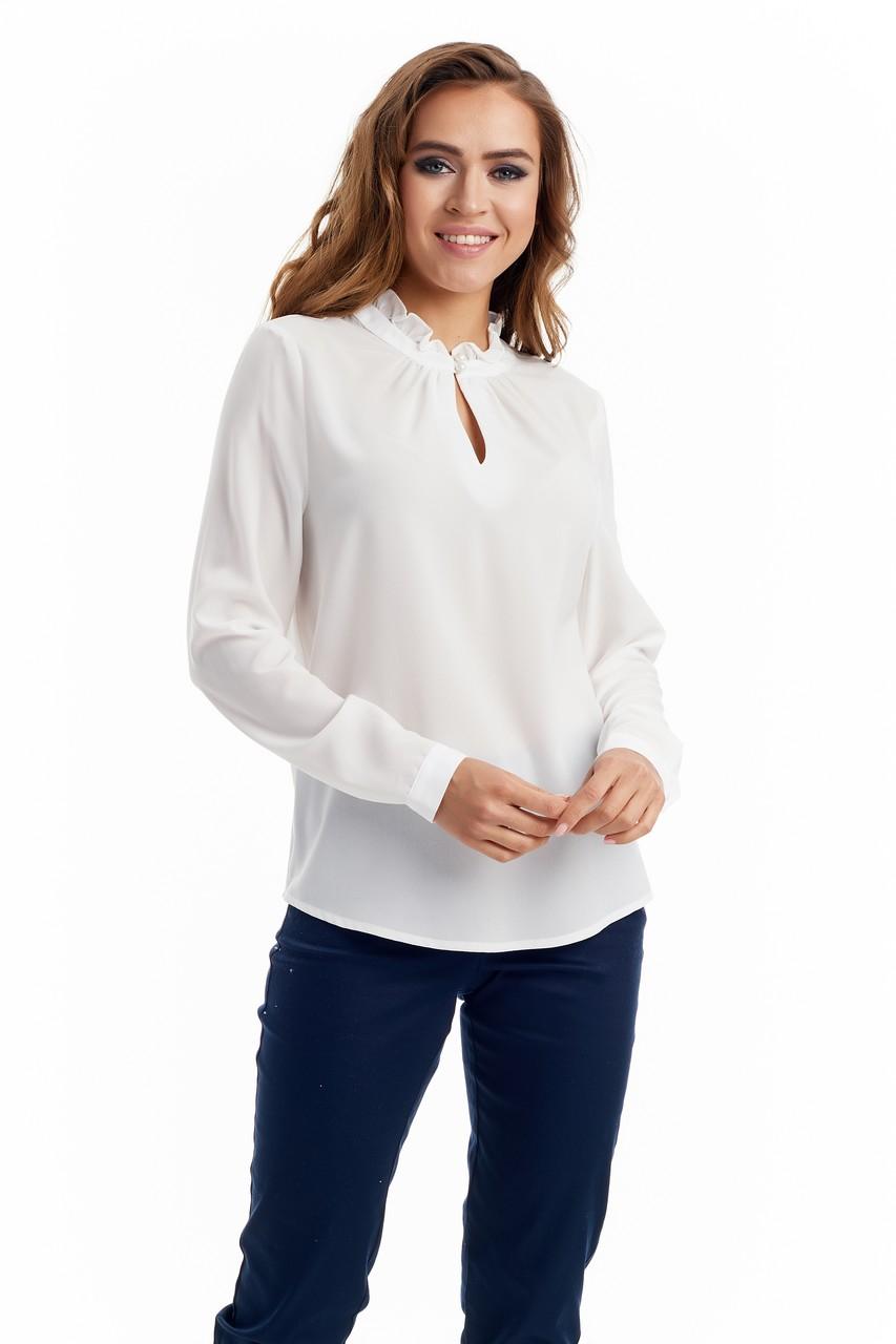 Блузка молочного цвета LalaStyle W02003