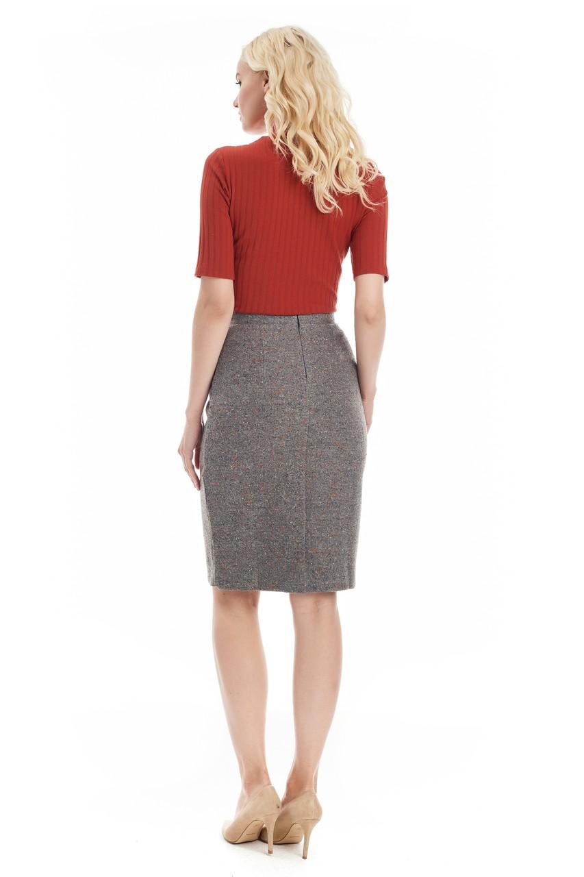 Шерстяная юбка букле LalaStyle W10015