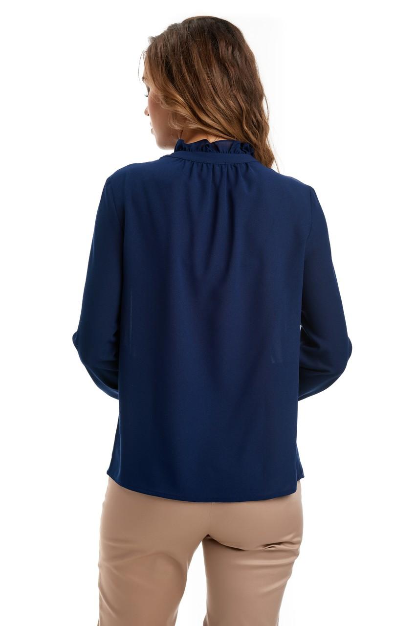 Темно-синяя женская блузка LalaStyle W02003