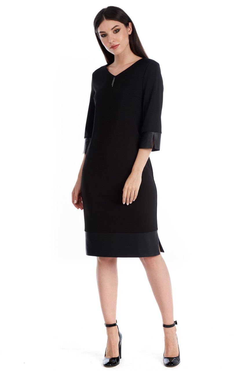 Черное платье LalaStyle W01069