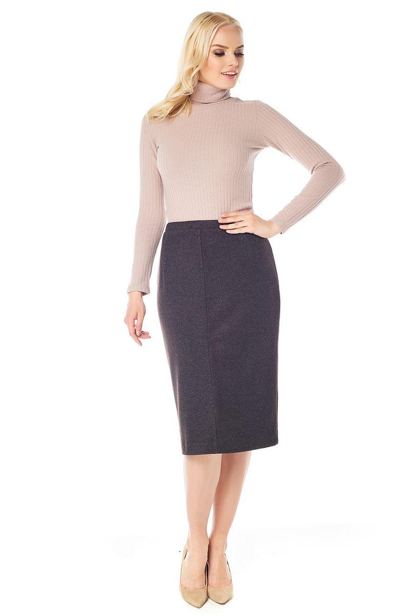 Коричневая юбка Lala Style W10013