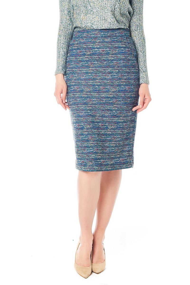 Меланжевая юбка LalaStyle W10011