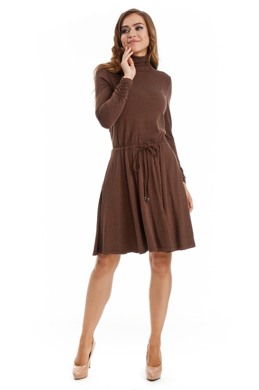 Модное шерстяное платье LalaStyle W01085