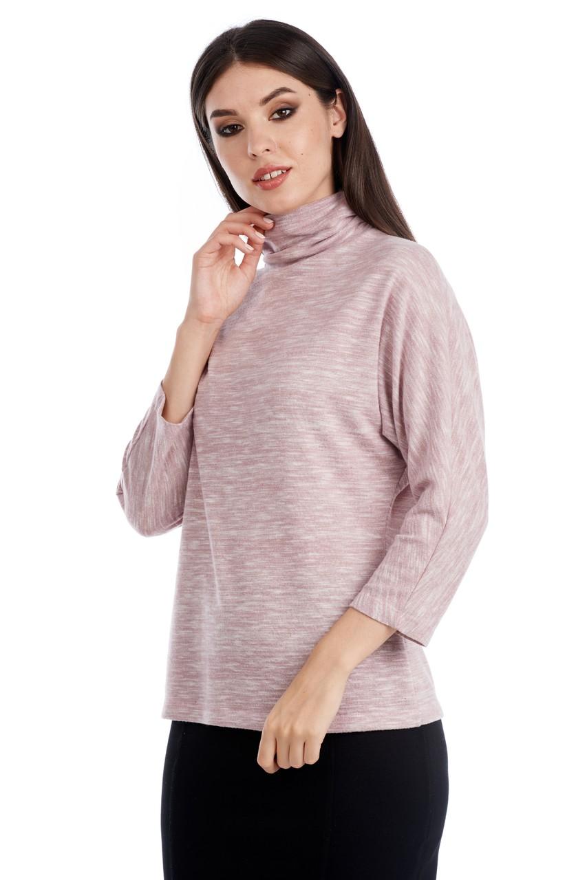 Розовая теплая водолазка LalaStyle W08100