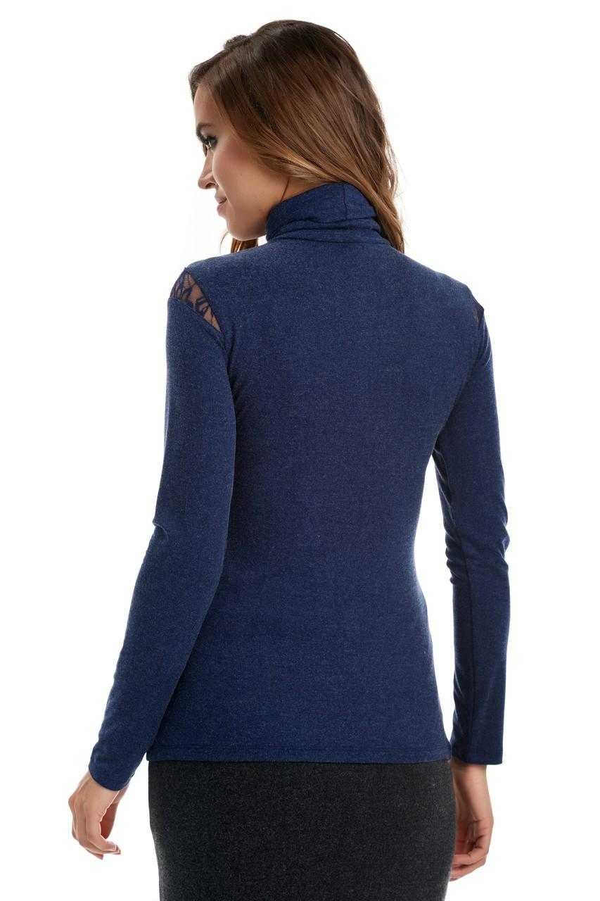 Синяя водолазка женская LalaStyle W08070