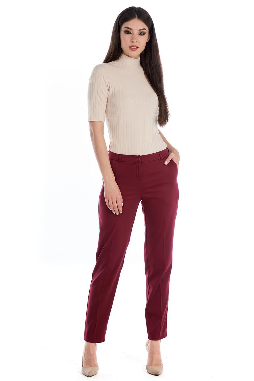Вишневые брюки LalaStyle W11012