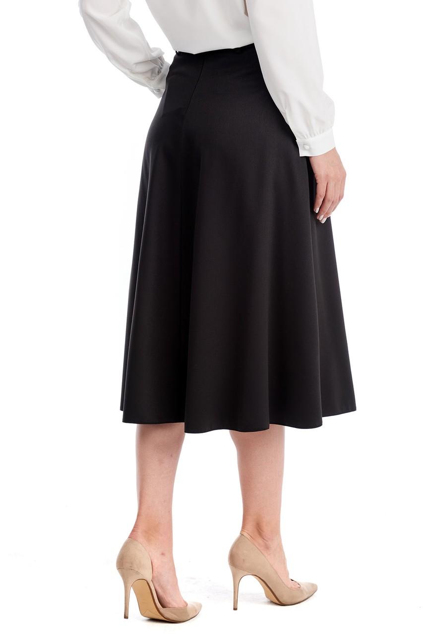 Черная женская юбка LalaStyle W10022