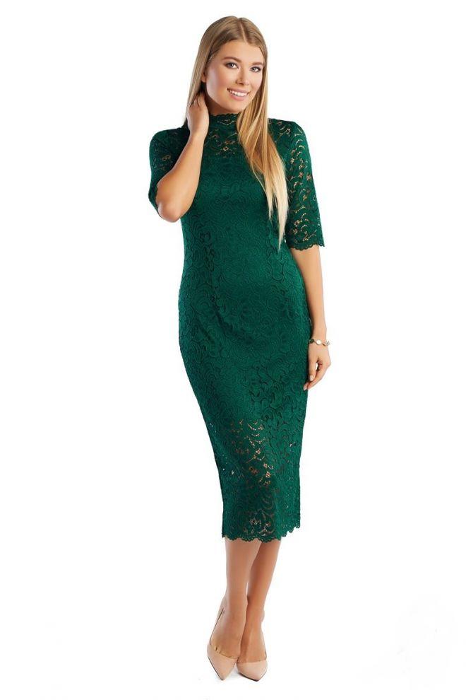 Гипюровое платье LalaStyle1362